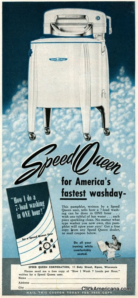 Vintage Speed Queen washing machines (1950)   Click Americana