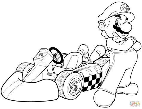 Super Mario Characters Coloring Pages