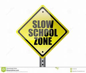 Slow School Zone Royalty Free Stock Image - Image: 15784756