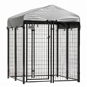4 ft x 4 ft x 6 ft welded wire dog fence kennel kit for Dog run fence home depot
