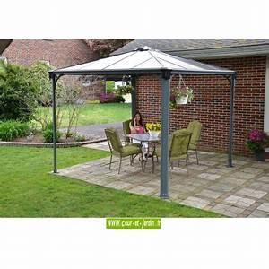 Tonnelle Terrasse : tonnelle alu 3x3 couv 39 terrasse tonnelle terrasse aluminium ~ Melissatoandfro.com Idées de Décoration