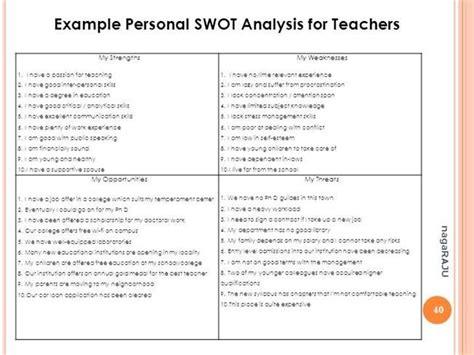 personal swot  teachers teacher school work swot