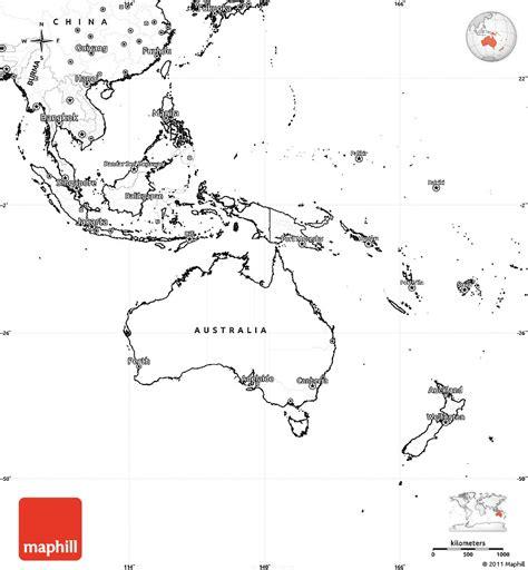 blank simple map  australia  oceania