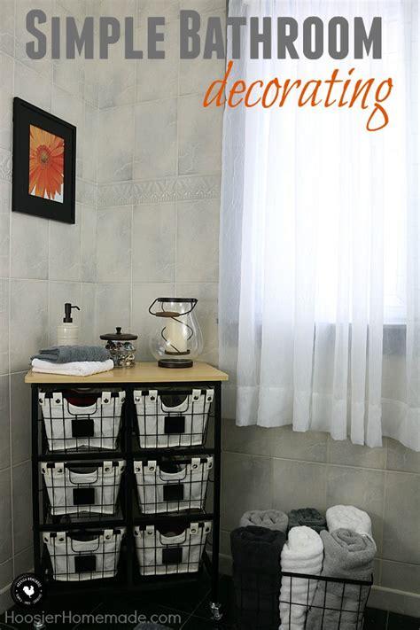 simple bathroom decorating hoosier homemade
