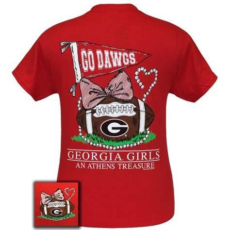 georgia bulldogs athens treasure pearls bow  shirt simplycutetees