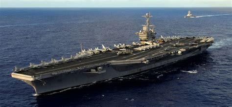 plus grand porte avion les etats unis envoient un porte avions d 233 fier la chine en mer de chine m 233 ridionale r 233 seau