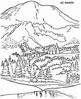 Coloring Park Arbor Pages National Mount Rainier Mt Tree State Helens St Washington Adult Parks Trees Usa Printables Sheets Printable sketch template