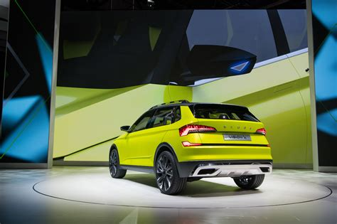 Skoda Vision X Concept Rear Three Quarters Left Side At