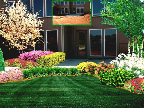 simple landscape ideas for front of house