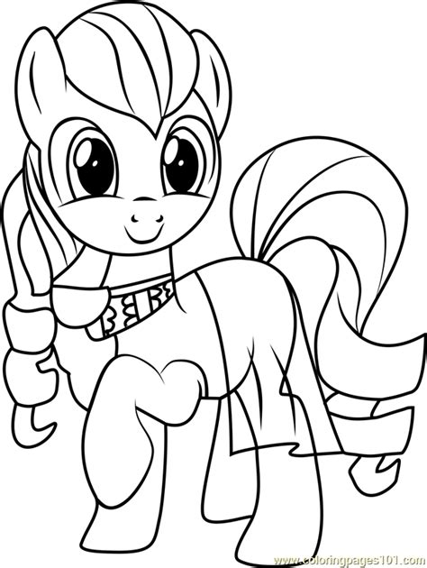 coloratura coloring page    pony friendship  magic coloring pages