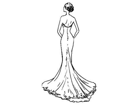 Trouwjurk Kleurplaat by Wedding Dress With Coloring Page Coloringcrew