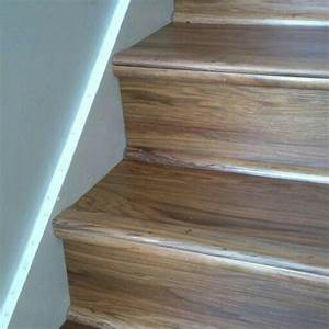 Luxury vinyl wood planks on stairs for the home for How to install vinyl plank flooring on stairs