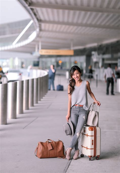 Gray Jeans Ankle Booties Comfy Airport Travel Outfit