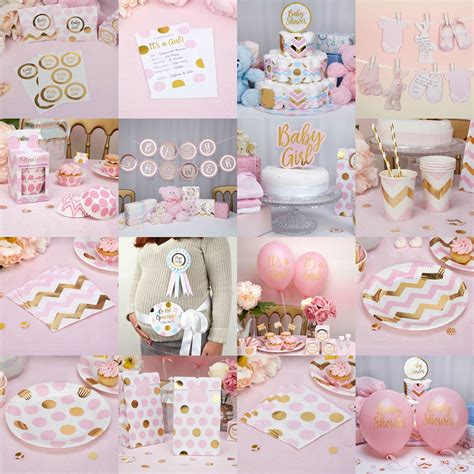 christening decorations pattern pink baby shower decorations