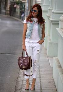 14 Fashionable Outfit Ideas with Denim Vest - Pretty Designs