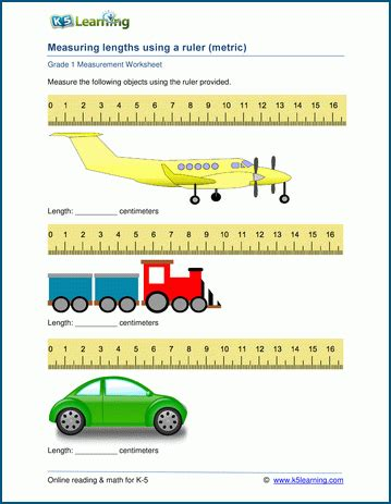 Grade 1 Measurement Worksheets Measuring Lengths In Centimeters  K5 Learning