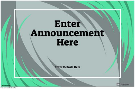 Horizontal Announcement Poster Storyboard by poster-templates