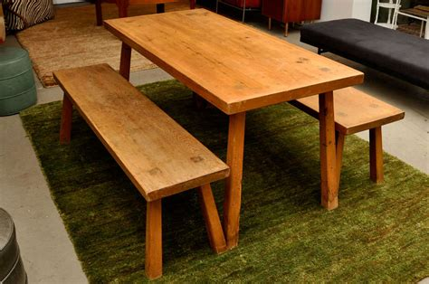 douglas fir dining table solid douglas fir dining table with benches image 2