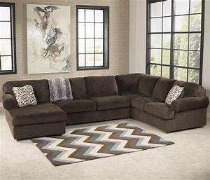 signature design by ashley jessa place chocolate casual With ashley furniture sectional sofa with chaise