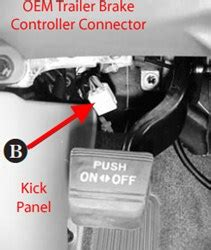 2013 Tundra Wiring Harnes Connector by Locating Brake Controller Connector On 2013 Toyota Tacoma