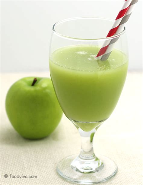 Green Apple Juice with Lemon and Honey - Refreshing and ...