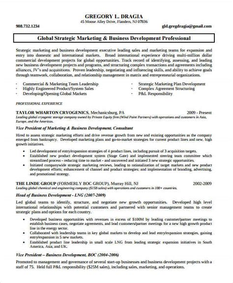 Business Development Marketing Resume by Marketing Resume Exles 50 Free Word Pdf Documents Free Premium Templates