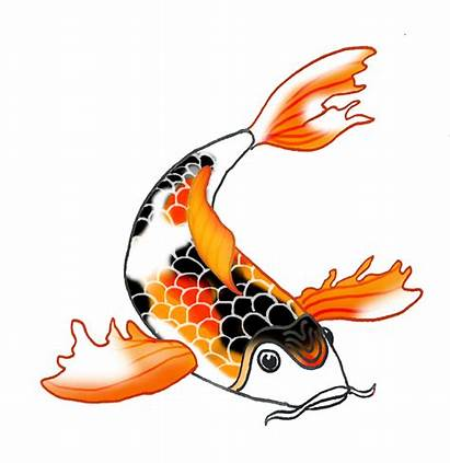 Koi Fish Clipart Drawing Drawings Carp Japanese