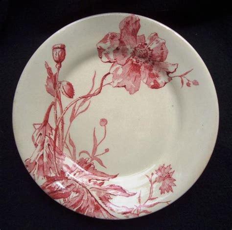 cuisine schmidt sarreguemines assiette ancienne en porcelaine opaque de gien coquelicots