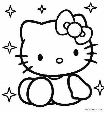 Kitty Hello Coloring Putih Gambar Hitam Mewarnai