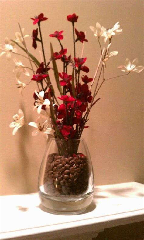 Dried Flower Arrangements In Vases by More Whole Coffee Beans Used For Dried Flower Arrangements