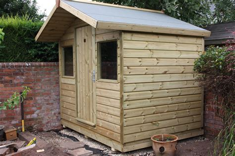 8ft x 6ft Shed With Overhang   The Wooden Workshop Bampton
