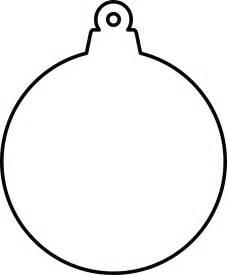 Christmas Ornament Outline Clip Art