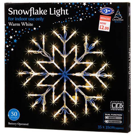 b m snowflake christmas light 37 x 37cm 270604