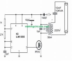 9v Tubelight Inverter Circuit