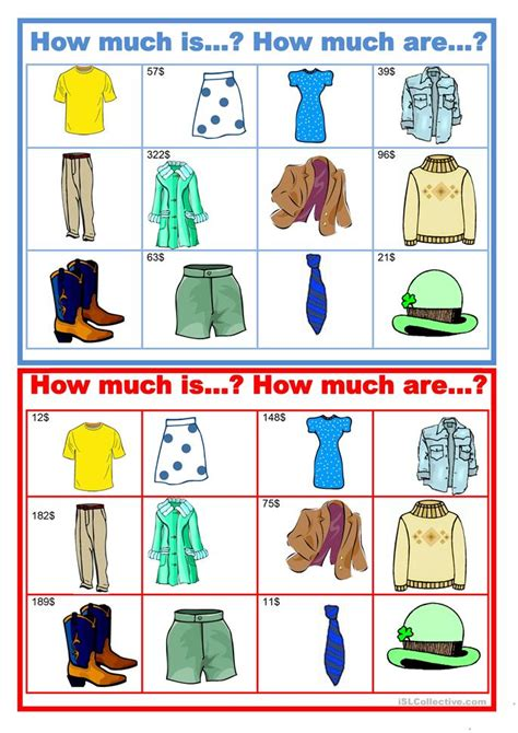 11 Free Esl How Much Is It? Worksheets