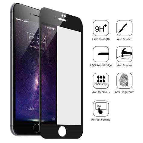 iphone glass 2 pack iphone 7 screen protector black tempered glass