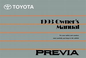 1993 Toyota Previa Owners Manual User Guide Reference