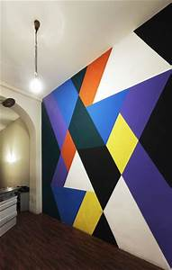 cool geo wall painting wall paint designs wall design
