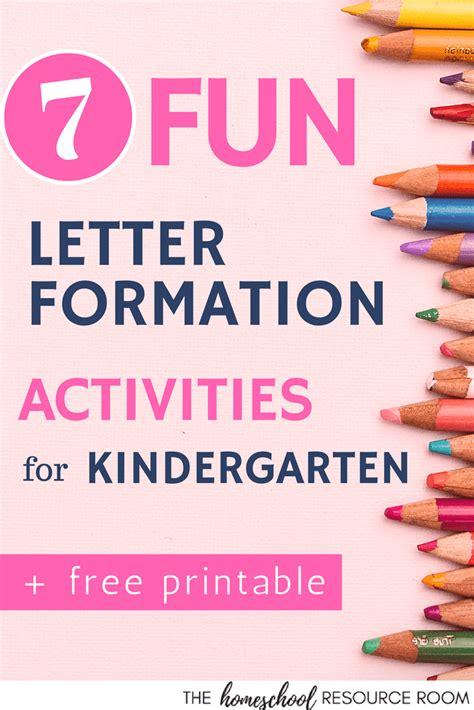 fun letter formation activities  kindergarten