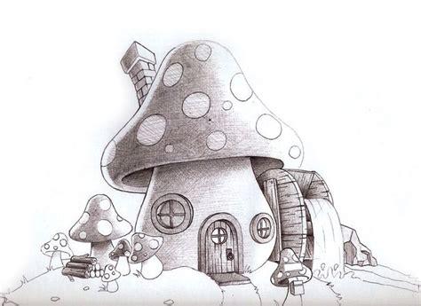 cool mushroom drawings mushroom house illustration sketch ideas pinterest house birds