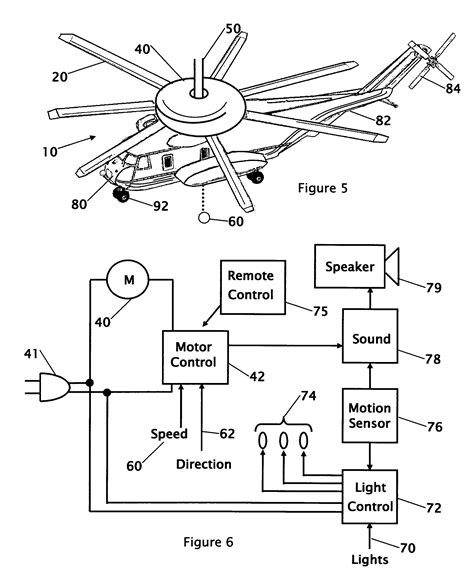 patent us7385528 combination ceiling fan with light and sound generator patents
