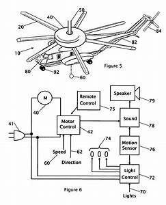 Wiring diagrams for a ceiling fan and light kit do at