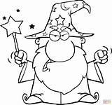 Wizard Coloring Wand Magic Angry Waving Drawings Drawing Printable 2078 94kb sketch template