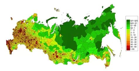 How Much Of The Population Is by How Much Of Russia Is Actually Inhabited Quora