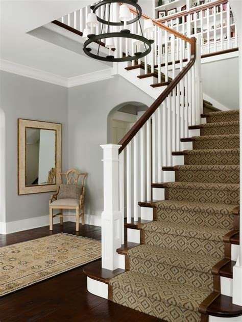 vapor trails by bm entryway wall up staircase hallway new traditional family residence traditional entry