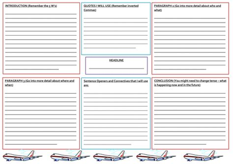basic newspaper template newspaper report planning template by nahoughton
