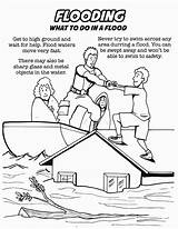 Coloring Flood Natural Disaster Safety Printable Getcolorings Disegno Valutazioni sketch template