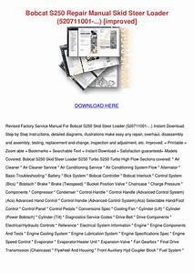 Bobcat S250 Repair Manual Skid Steer Loader 5 By