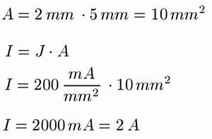 Querschnitt Berechnen Formel : elektrische stromdichte j ~ Themetempest.com Abrechnung
