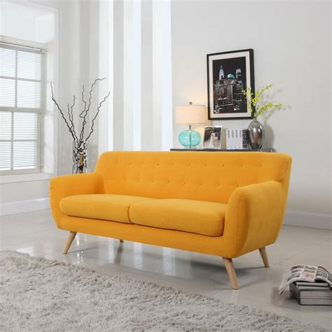 settee modern mid century modern sofa living room furniture assorted